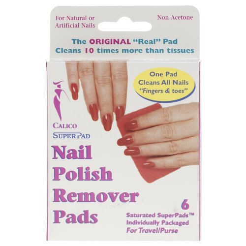 Calico Nail Polish Remover Pads (6 pads) 8275 by Unbranded