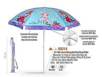 Sonnenschirm für Strand / Garten / Meer / Terrasse - Windfest - Jungen und Mädchen mit Motiven aus Frozen / die Eiskönigin – Lichtschutzfaktor UV SPF 50+ - Perletti von PERLETTI auf Gartenmöbel von Du und Dein Garten