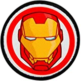 Los Vengadores - Iron Man - parche bordado parche botón - aproximadamente 6 cm