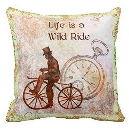 JamieSaleStore Steampunk Bicycle 45*45cm Cotton linen pillow cushion cover