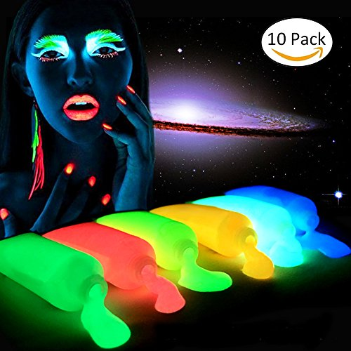 Neon Face Paint brilla en oscuro