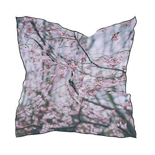 Sakura Forest Big Square Schals Head Wrap Women Shawl Wrap Silks Material - Big Square Schal
