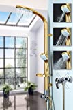 Goldenes Aluminium Duschpaneel Duschsäule mit Regendusche von Sanlingo GOLD