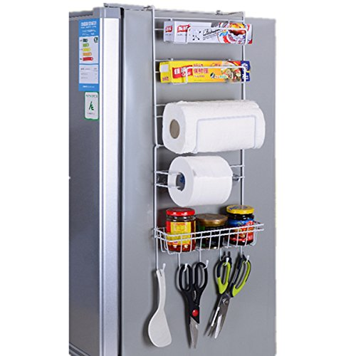 Küche Edelstahl-Regale Kühlschrank Pylons Wand Storage Rack ( Farbe : Silber ) - Wand Storage Rack