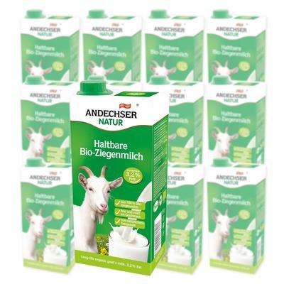 Preisvergleich Produktbild Ziegenmilch Bio haltbar 12x 1 Liter Sparpack
