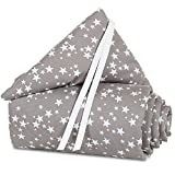 babybay Nestchen Piqué für Midi und Mini, taupe Sterne weiß