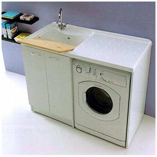 Lavatoio Ceramica Con Mobile Per Lavatrice