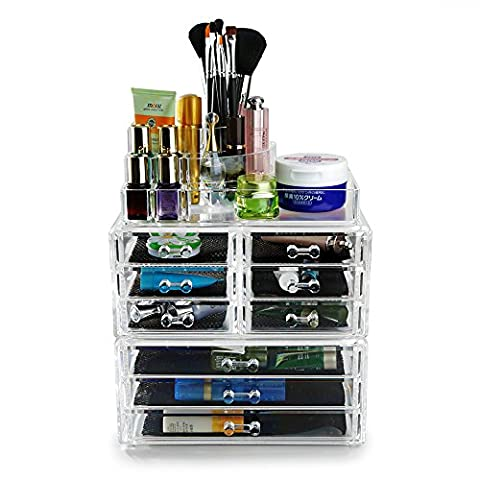Hotrose Acrylic Clear Make Up Organiser Cosmetic Display Jewellery Storage