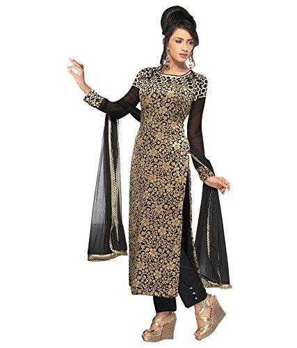 Salwar Kameez Dress For Women's (VH FASHION Velvet Brasso embroidered Full Stitched...