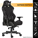 #3: Green Soul Gaming / Office Chair with 180º Recline (Monster Series) (GS-734 / Classy Black - Batman Edition) (Fabric + PU Leather + PVC Leather, 4D Carbon Armrests, Class 4 Hydraulic Piston, 70 mm Dual Caster Locking Wheels, Head & Lumbar Pillows included, Chair Size Large, Advanced Multi Lock Frog Mechanism)