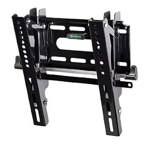 Hama TV Wandhalterung für 25-94cm Diagonale (10 - 37 Zoll), neigbar, VESA bis 200 x 200, max. 25 kg, schwarz