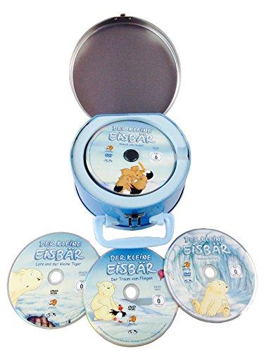 Der kleine Eisbär - 4 DVDs in Koffer aus Metall, tolles Geschenk : Nanouks Rettung - Lars und der kleine Tiger - Der Traum vom Fliegen - Besuch vom Südpol