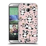 Head Case Designs Panda Mièvre Doodles Étui Coque en Gel molle pour HTC One M8 / M8 Dual Sim