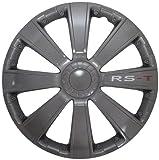 AutoStyle RST 13 DARK Set Copricerchio Rs-T 13 col. Canna di Fucile, 4 pezzi