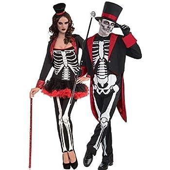 6325404b83f010 Fancy Me Coppia Uomo & Donna Mr e Signora Scheletro Giorno dei Morti  Teschio di Zucchero