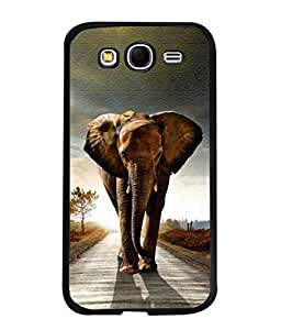 PrintVisa Designer Back Case Cover for Samsung Galaxy Grand I9082 :: Samsung Galaxy Grand Z I9082Z :: Samsung Galaxy Grand Duos I9080 I9082 (The Huge Elephant Strolling On The Road)