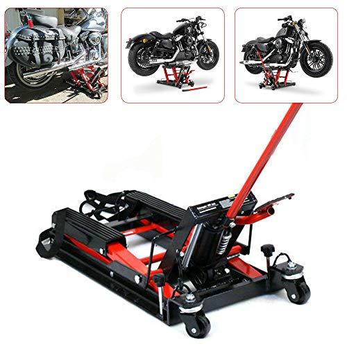 Hydraulisch Motorrad Hebebühne Yunrux 680 kg Motorrädern Hydraulik-Lift 11.5-37.5cm Hebebühne Montageständer Tragkraft Hubtisch Heber Motorrad Heber Schwarz