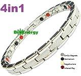 Titanio magnetico energia germanio bracciale Potenza Bracciale Salute Bio 4in1 112