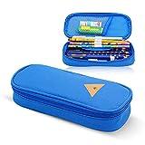 Charmss astuccio portamatite, portamatite, portamatite stazionario con cerniera astuccio multifunzionale per studenti. (blu)