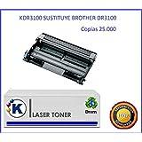 K DR-3100 Tambor de impresora sustituye Brother DR3100, DR-3100, DR 3100 Valido para impresoras tipo: Brother HL-5240 / HL-5250DN / HL-5270DN / HL-5280DW / MFC-8460N / MFC-8860DN / MFC-8870DW / DCP-8065DN / DCP-8060 / HL-5240L
