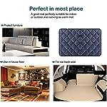 Hero Dog Dog Bed Extra Large Washable Crate Mattress 47 Inch, Soft Non Slip Pet Fleece Cushion Pad Blue XL 16