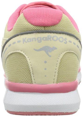 KangaROOS Neke, Sneaker donna beige (Beige (lt sand/plastic pink/white 160))