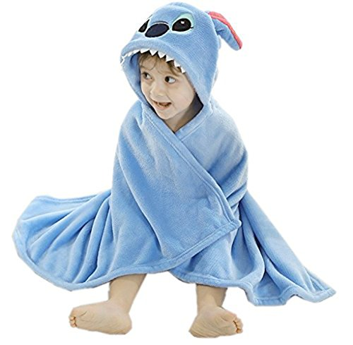 iEFiEL Arrullo Infantil Suave Mantas Mantitas Envolventes Calentitas para Bebé Recién Nacido Albornoz Toalla de Baño Azul (93 x 75cm) talla única