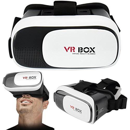 ASAB 3D Virtual Reality VR Box 2.0 Glasses Smart Phone Universal Headset Goggle Video Compact Portable Design Adjustable lens & Focus Controls