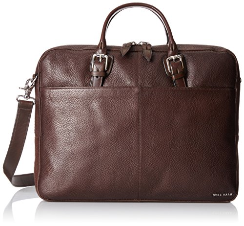 cole-haan-mens-pebble-zip-top-attache-chocolate-one-size
