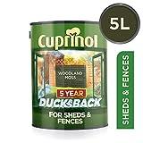 Cuprinol DBWM5L Ducksback - Pintura para cabañas y vallas (protección impermeable durante 5 años, 5L), color verde musgo