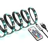 AMIR 2m 60 LED Stripes, RGB LED Streifen mit 17 Tasten Fernbedienung, LED TV Hintergrundbeleuchtung, 20 Farben auswählbar, 19 dynamische Modi, HDTV USB LED TV Beleuchtung LED Stripe für TV-Bildschirm, PC-Monitor, Bett, Balkon, Bar, Party und Schlafzimmer.
