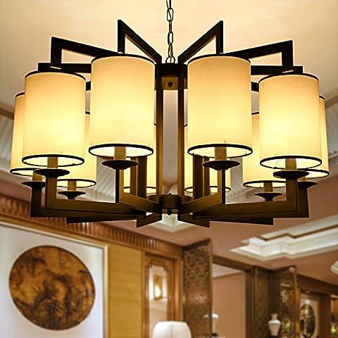 LINA-Salotto Cinese lampada Lampadari Lampade di nuovo e moderno ristorante cinese retrò camera da letto di ferro di luce a soffitto