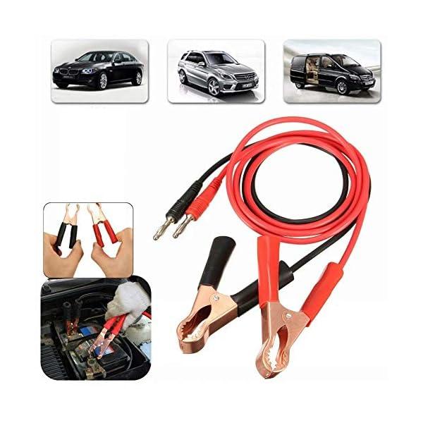 2 clips de pinza de clip de banana de 15 A a 80 mm para batería de coche