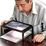 3x Manos Libres gigantes mesa de escritorio Lupa Magnifier para la lectura LED