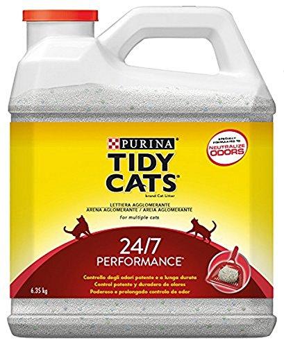 Purina - Tydi Cats 24/7 perfumada Arena para Gatos - Pack de 3 x 6,35 Kg - Total 19.05 Kg