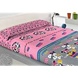 SABANA INFANTIL DE INVIERNO PIRINEO MINNIE cama de 90 - Encimera + sábana bajera ajustable + funda de almohada.