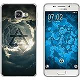 PhoneNatic Case für Samsung Galaxy A3 (2016) A310 Silikon-Hülle Element Luft M1 Case Galaxy A3 (2016) A310 Tasche + 2 Schutzfolien