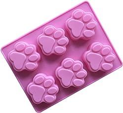 EFINNY Silikon Backform Set DIY Schöne Katze und Hund Pfote Form Schokolade Cupcake Formen