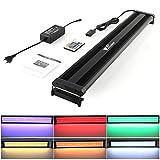 Amzdeal Illuminazione Acquario RGB 108 LED Lampada Acquario Ideal per Acquario Lungo da 73 - 93 cm con Telecomando