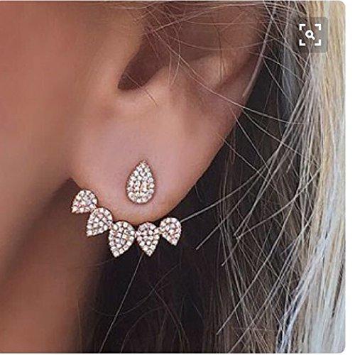 SomStyle (TM) Korean Schmuck New Kristall Vorderseite R¨¹ckseite Double Sided-Bolzen-Ohrringe f¨¹r Frauen arbeiten Ohr Jacke Earing Koyle (Schmuck-box Frauen Earing Für)