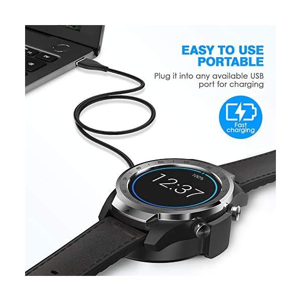 KIMILAR Cable Compatible con Huawei Watch 2 / Watch 2 Pro Cargador, [2 Pack] Base de Carga USB Compatible con Huawei… 5