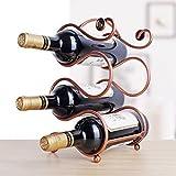 Health UK- Creativo Vino Rack Decorazione Moderna Vino 4 Bottiglia scaffale Vino Ornamento