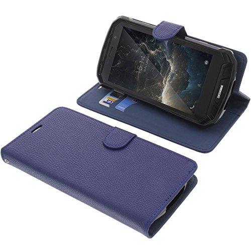 foto-kontor Tasche für Doogee S60 Book Style blau Schutz Hülle Buch