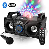 Enceinte karaoke 200W - USB/SD/BLUETOOTH - LEDs Magic RGB + Micro - KoolStar Fuzzy Magic