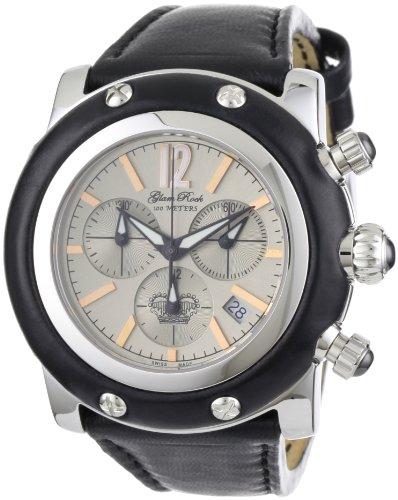 Glam Rock GR10124 - Reloj cronógrafo de Cuarzo para Mujer con Correa de Piel, Color Negro