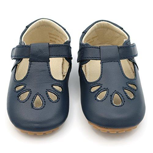 Bild von Dotty Fish Premium Leder Babyschuhe für Jungen und Mädchen. Rutschfeste erste Wanderschuhe. Klassische Kleinkind Schuhe. Größen 19-23