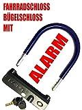 Alarmschloss für Fahrräder, Motorräder, Lastenräder, Buggys SEHR LAUT