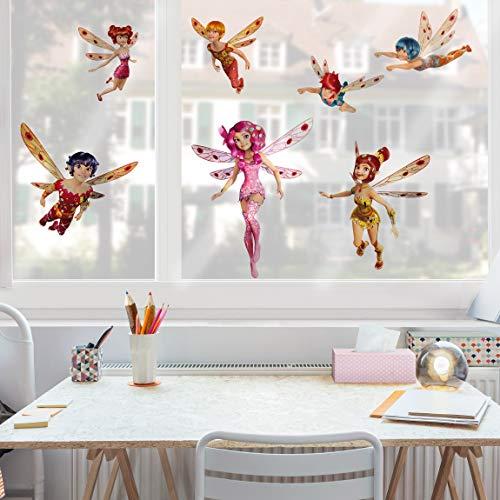 Vetrofania mia and me-mia e gli elfi di centopia nursery girl tattoo vetro adesivi unicorni window film window art finestra dã © cor finestra decorazione da finestra, dimensioni: 40x 55-0.00