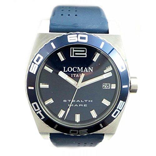 Locman Men's Quartz 021100bablasib (Rechargeable) quandrante Steel Blue Silicone Strap