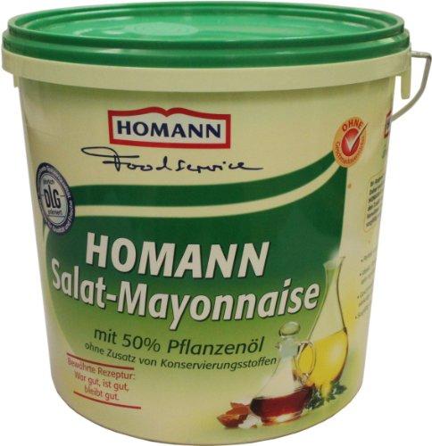Homann Salat-Mayonnaise 50{e33ff38a307f559e3b186e74b89590192121d544caaeed3c982079186c57936f} 10kg